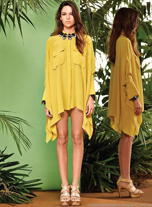 Naima primavera verano 2015 blusas, camisas y túnicas.