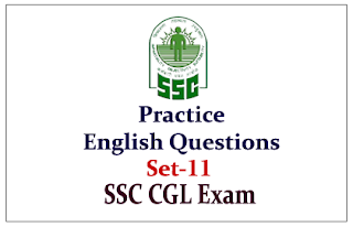 Practice English Questions for SSC-CGL Exam 2015