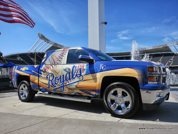 COMPANY: 50 Silverados caravan to the Royals game for a good cause