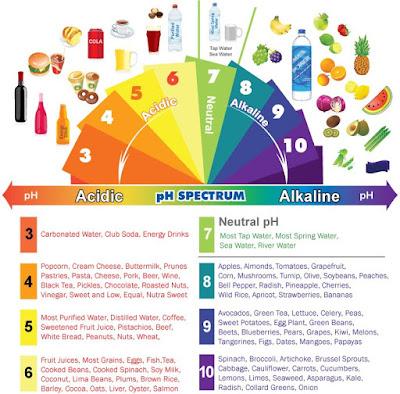 17 signes que votre corps est trop acide et 9 façons de l'alcaliniser rapidement Alkaline-chart