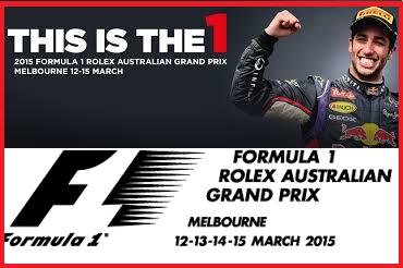 F1 Grand Prix Australia 15 Mac 2015