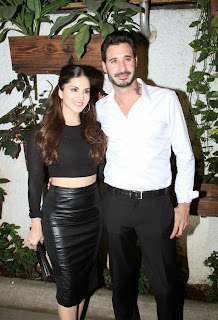 Sunny Leone Latest Pictures in Black Leather Skirt at Ek Paheli Leela Special Screening ~ Celebs Next