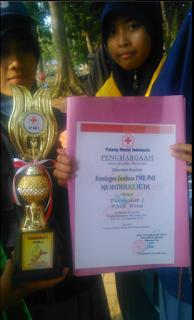 MMH Pucakwangi Juara Umum perlombaan Jumbara PMR PMI Tingkat SMA/MA/SMK Se-Kabupaten Pati di Buper Regaloh