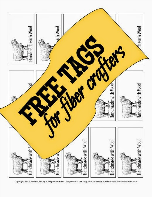free printable tags or labels for fiber crafters by the funky felter