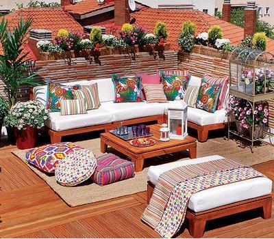 Vida a lo verde living in green terrazas con flores un for Terrazas living