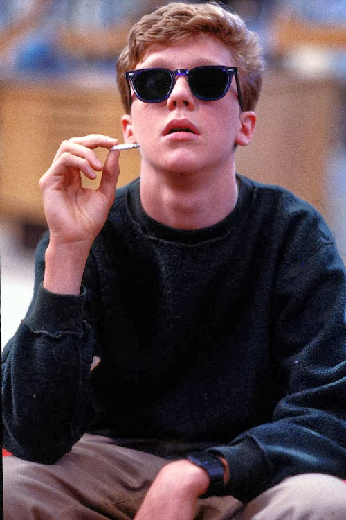 Anthony michael hall in the breakfast club smoking a joint dating tips