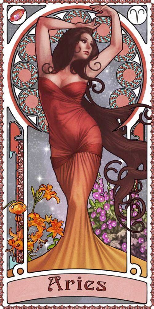 Carta Zodiaco Mujer, Signo Aries