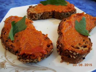 Miercurea fara carne 03 Iunie, zacusca pe paine