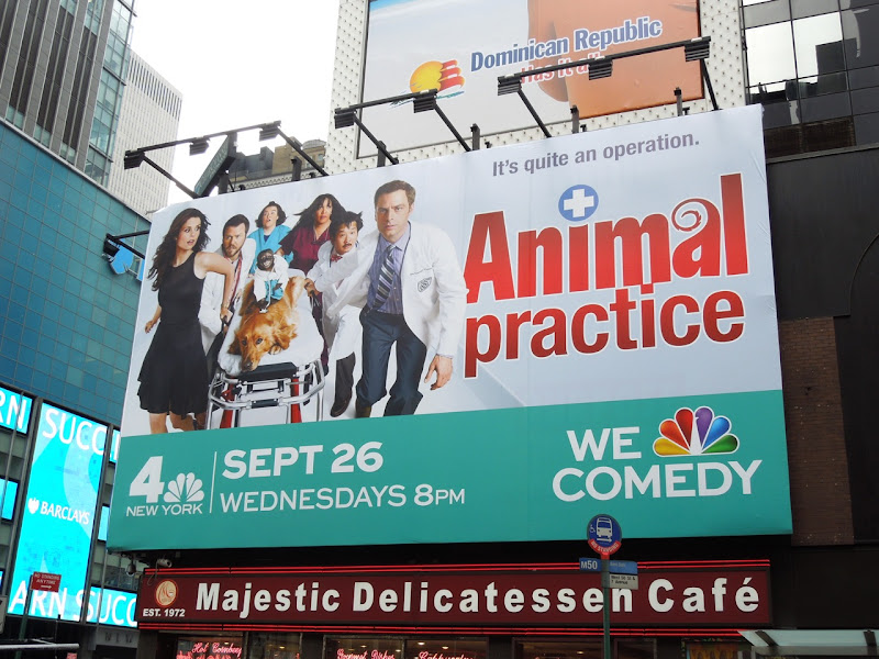 Animal Practice NBC billboard Times Square
