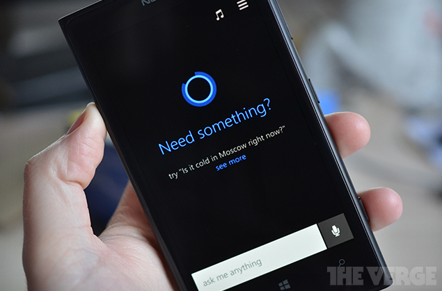 Cortana Siri versi Windows Phone