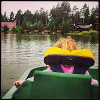 Pedalo on the lake