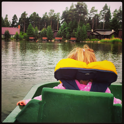 Pedalo on the lake at Center Parcs Whinfell