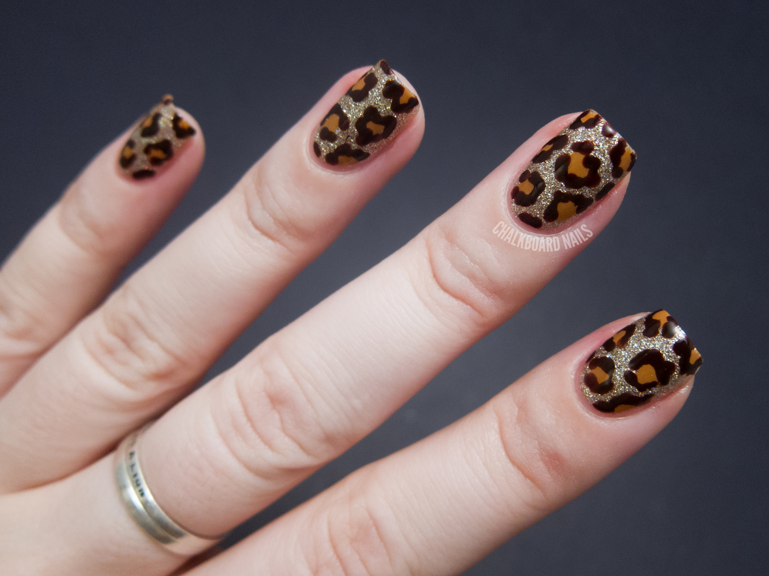Blinged Out Leopard - China Glaze On Safari Nail Art | Chalkboard ...