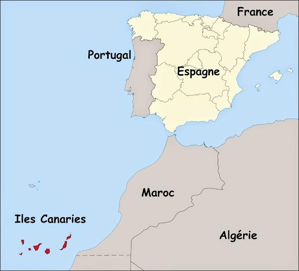 les canaries carte du monde