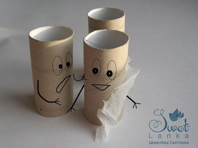 что сделать из рулончиков от туалетной бумаги