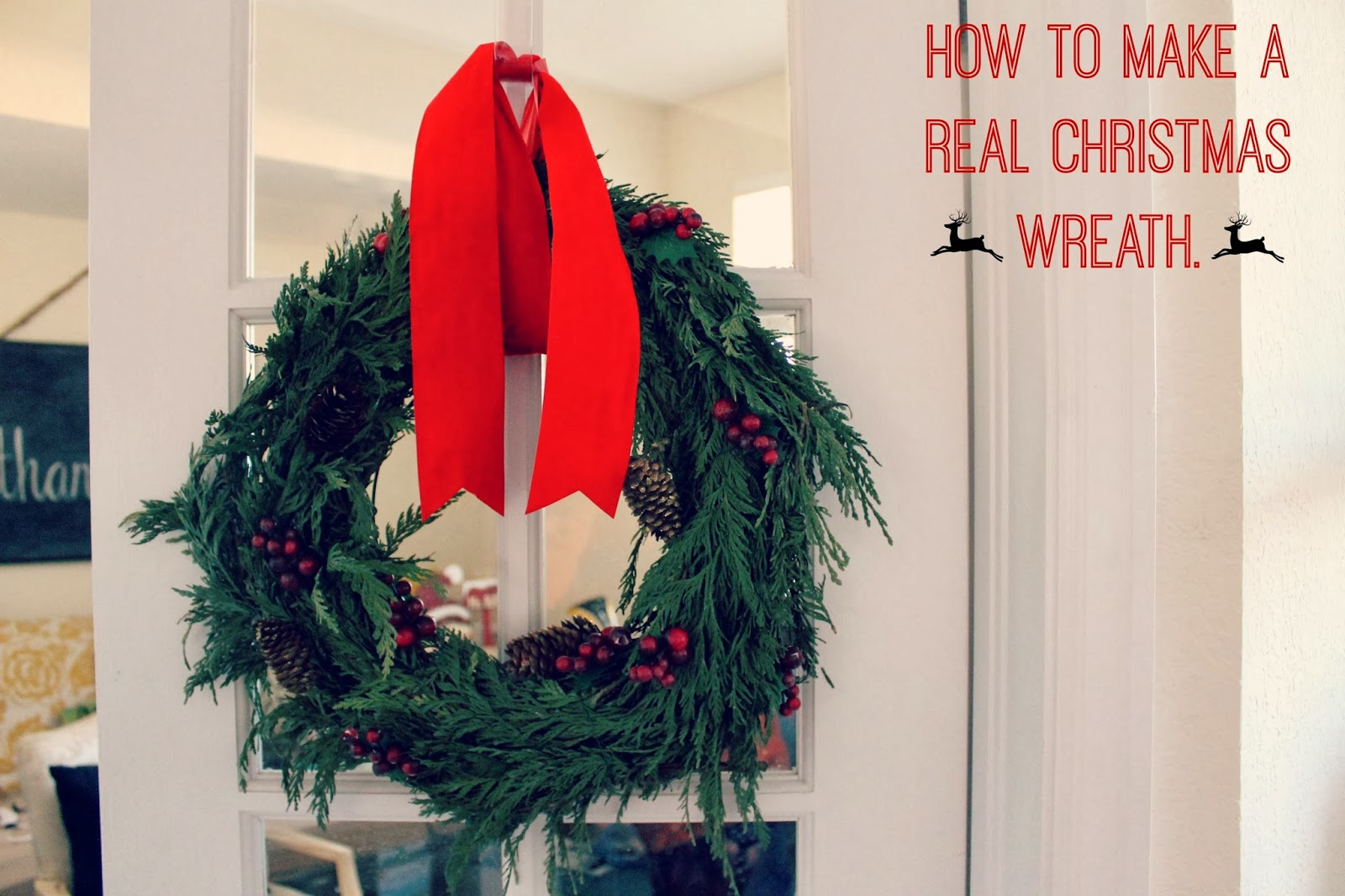 How to make real christmas wreaths - First Off I Was Pumped When The Home Depot Had Real Greenery For Sale On Black Friday For 5 I Bought Two Things Of It One For The Mantel And One For