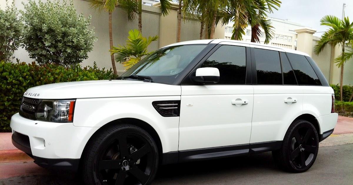 Range Rover Black >> Exotic Cars on the Streets of Miami: White Range Rover ...