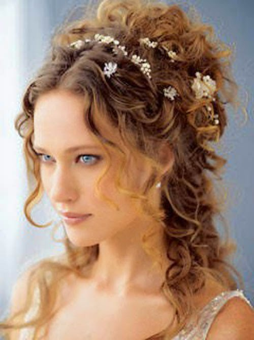 up hairstyles for weddings with flowers}