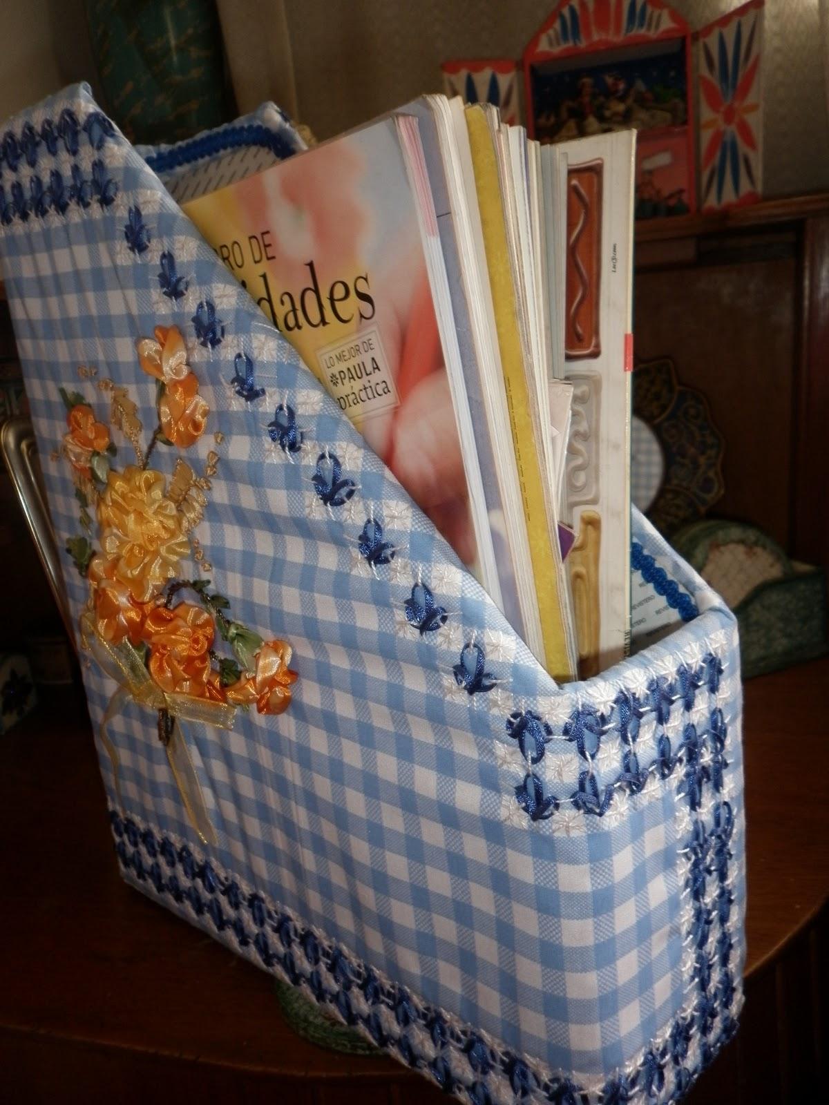 Manualidades para hacer en casa revistero con caja de cereal o de galletas - Cajas para manualidades ...