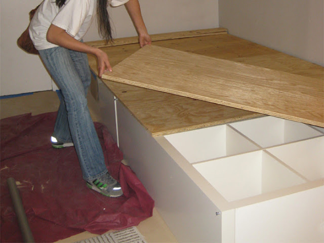 bed hack 769449 How to Make a Storage Bed Using an Ikea Expedit Bookcase