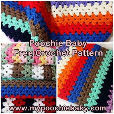free crochet pattern for granny afghan