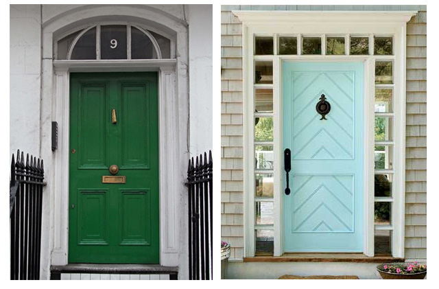 bold colored front doors