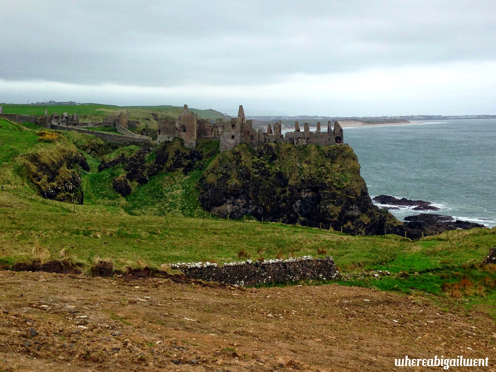 Castle Ruins on Cliffs Ireland