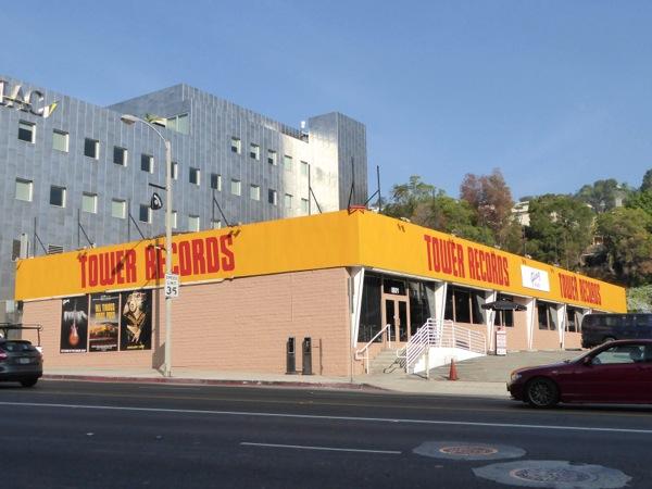 Tower Records 2015 recreation Sunset Strip
