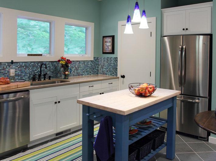 decoracao cozinha de praia: de azul ficou com cara de casa de praia algo bem relaxante não acham