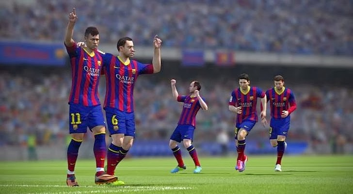 ... pro evolution soccer 2014 juga dirilis untuk playstation 2 fifa 14