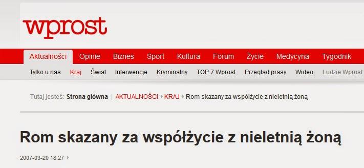 http://faktoring.wprost.pl/ar/103373/Rom-skazany-za-wspolzycie-z-nieletnia-zona/