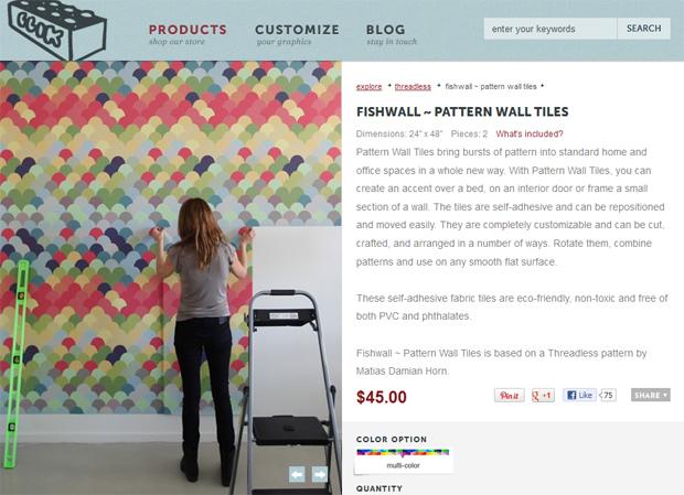 Blik Fishwall Pattern Wall Tiles