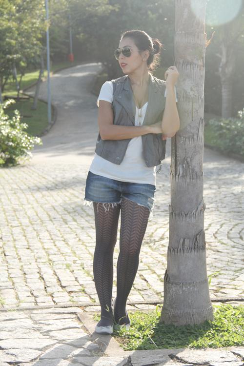 Diário do Coque Frouxo  Meia-calça com Sapatilha... 08708676eee1c