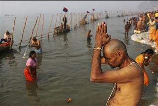 Bharat's Kumbha Mela festival begins. Sarasvati-Yamuna-Ganga sangamam