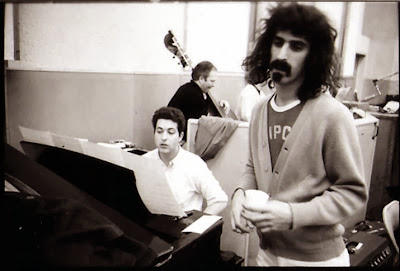 Frank Zappa in 1967 at Lumpy Gravy session - at the piano Mike Lang