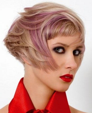 Chic Pink Hair Highlights 2014