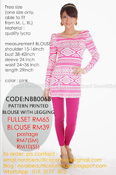 NBB0068 PATTERN PRINTED BLOUSE OR (FULLSET)