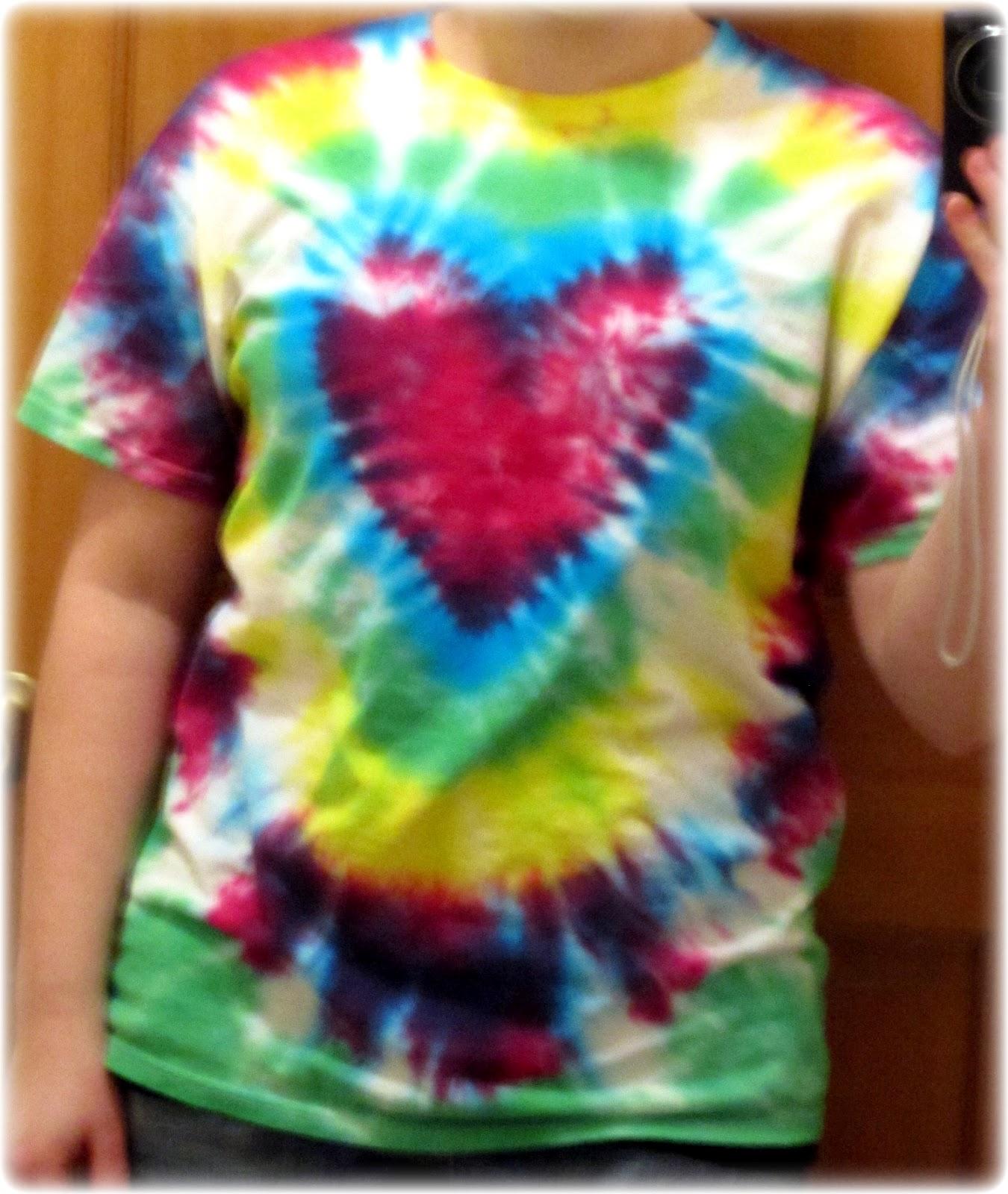 Ajcrazies By Ajk Heart Tie Dye Shirt