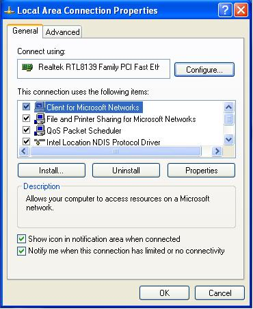 """Now scroll down to """" Internet Protocol (TCP/IP) """". See below:"""