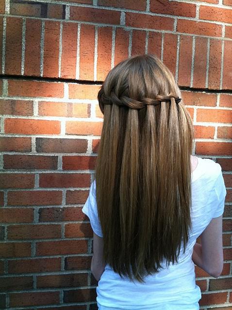 Прически на длинные темные волосы на каждый день