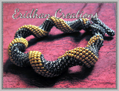 twisted tubular peyote bracelet