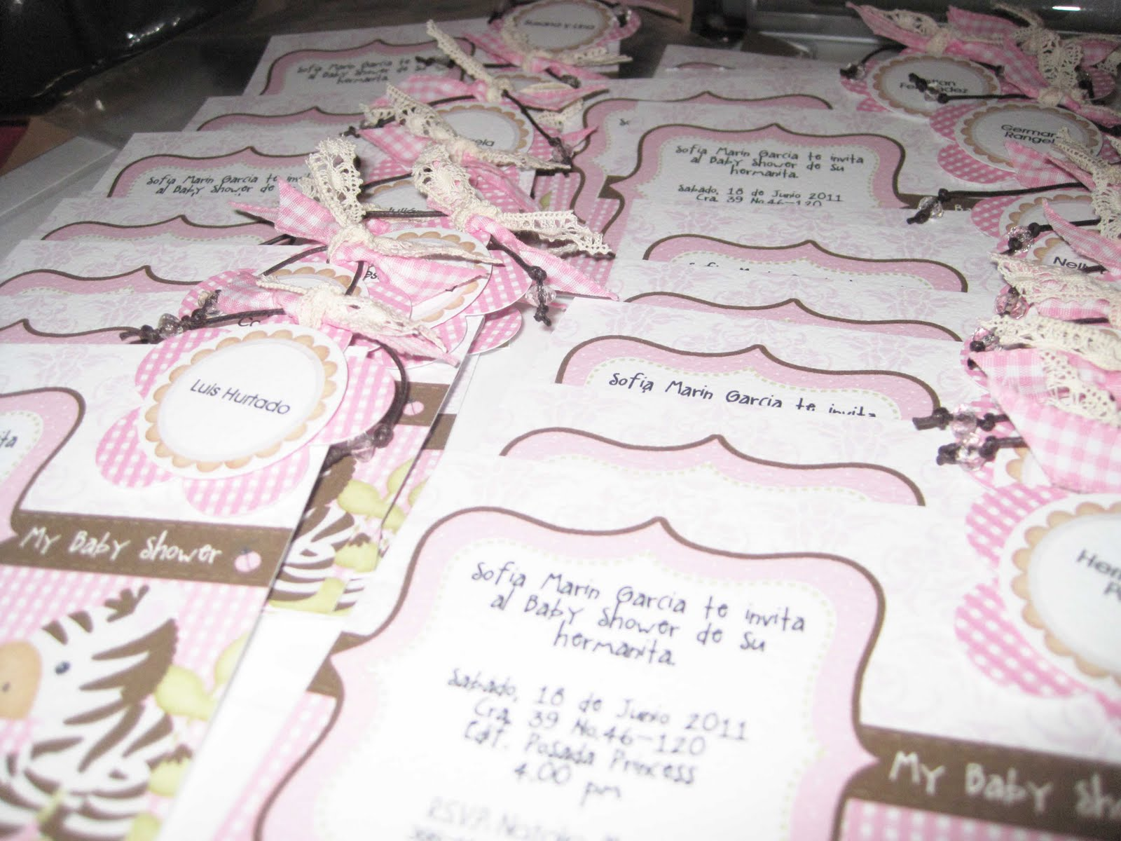 Invitaciones Para Baby Shower De Nina