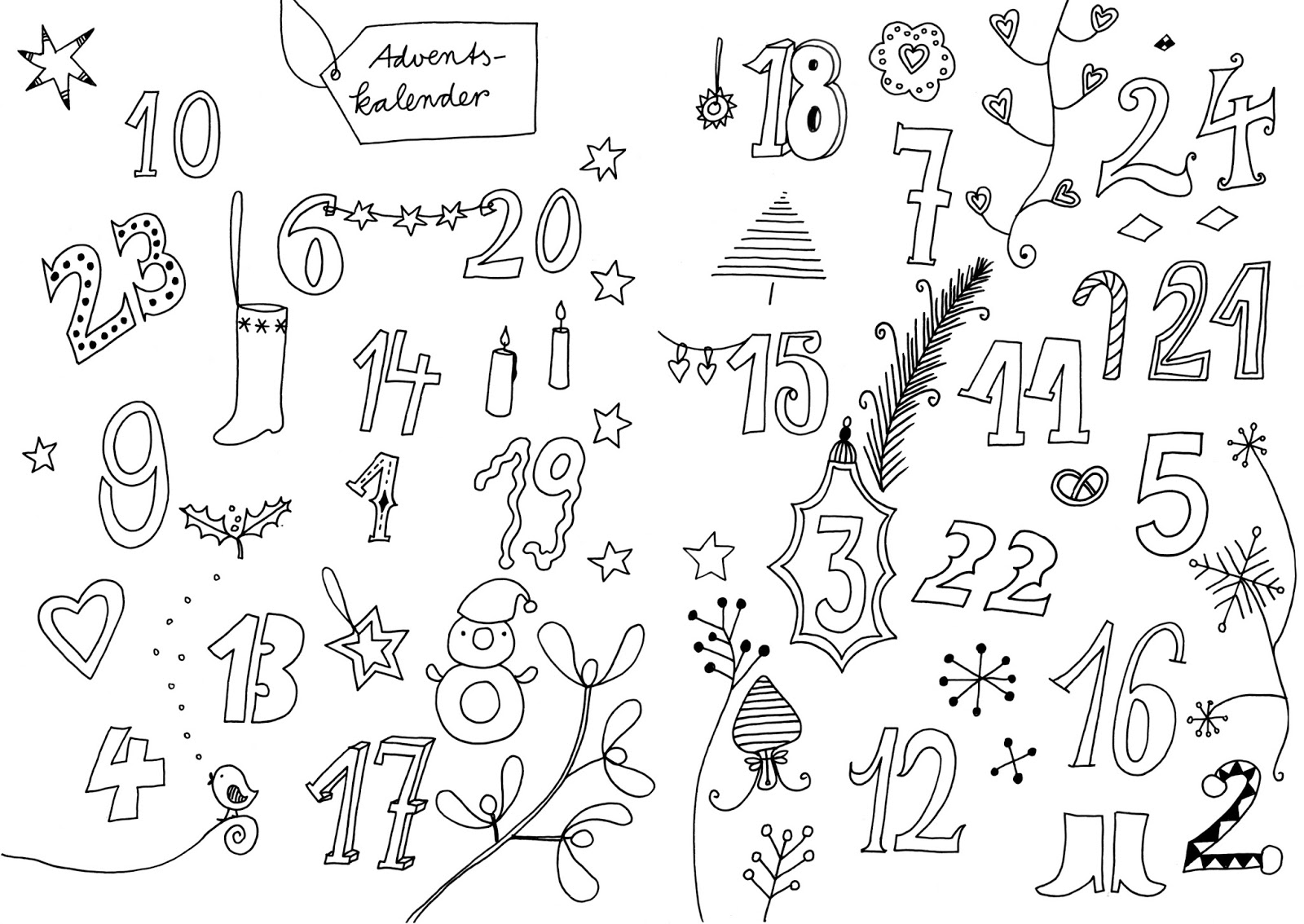 constanze guhr illustrations: advent, adventadventskalender zum