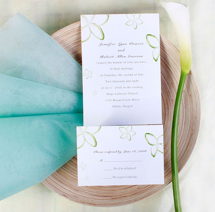 summer wedding invitation Summer invitations are several color options that