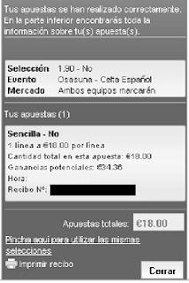 Apuestas Deportivas Rosberg Fútbol-Liga BBVA España Celta Osasuna Lbapuestas bono