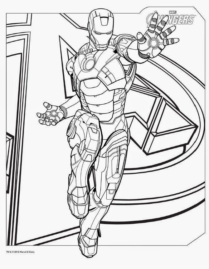 Mewarnai Gambar Mewarna Gambar Superhero Avenger Ironman