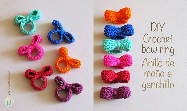 free crochet pattern bow ring