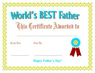 Fathers Day Certificate Greeting Card