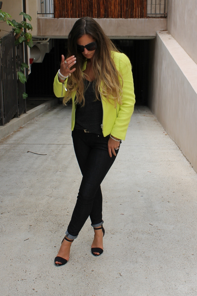 Zara Neon Blazer. Neon Blazer.