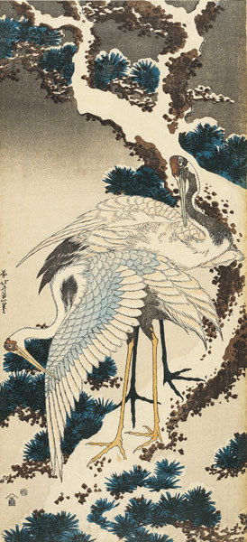 hokusai katsushika snow